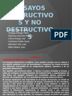 Diapositivas de Ensayo de Materiales - Ensayos Destructivos y No Destructivos
