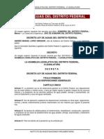 Ley de Aguas Para El Distrito Federal