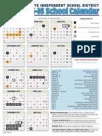 calendar 2015-16 with back