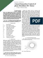 Sensorless Control of 5 Phase BLCD Motor