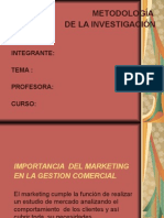 Importacia Del Marketing en La Gestion Comercila