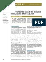 best b blocker for systolic hf