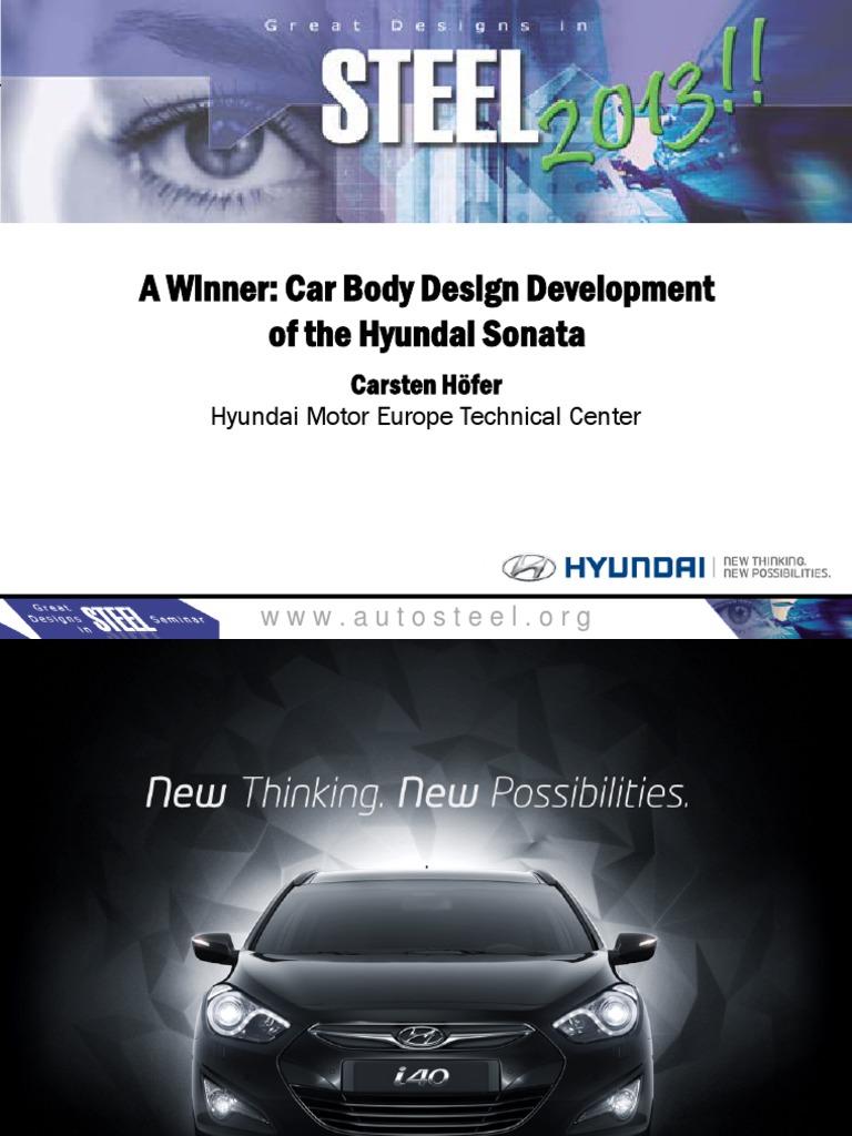 A Winner Car Body Design Development of the Hyundai Sonata