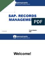 Sap Records Management