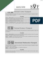 Olympaid Exam Sample paper