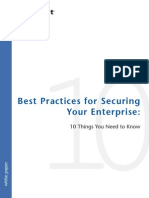 Best Practices for Securing Your Enterprise. 10 Things You Need To Know