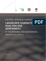 National Technical Guideline for Landscape Character Analysis and Assessment at the Regional and Sub-Regional (Provincial) Levels