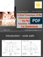 A Brief Overview of the Astronomy's Place in the Romanian Neolithic Research of the Settlements