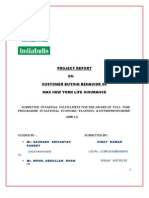 Project Report Final- on Max New York Life By Vinay Kumar Pandey