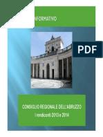CONSIGLIO REGIONE ABRUZZO Rendiconti 2013 2014_completo