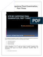 STR 581 Capstone Final Examination, Part Three (Latest)