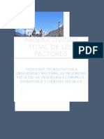 PRODUCTIVIDAD TOTAL DE LOS FACTORES