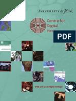 Centre for Digital Heritage, University of York - Brochure