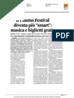"""Il Plautus Festival diventa più """"smart"""" - Il Corriere di Romagna del 15 luglio 2015"""