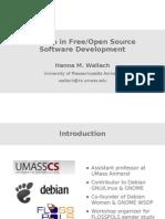 Women in Free/Open Source Software Development