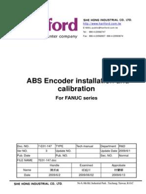 Fanuc Encoder CalibrationEnglish | Areas Of Computer Science