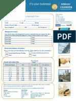 Membership Application Form 2015