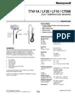 Caracteristicile Sensorului PT 1000