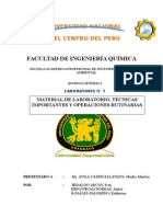 Material de Laboratorio, Técnicas Importantes y Operaciones Rutinarias