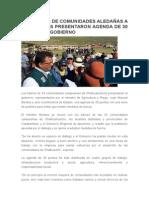 Dirigentes de Comunidades Aledañas a Las Bambas Presentaron Agenda de 30 Puntos Al Gobierno