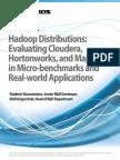 Hadoop Comparison