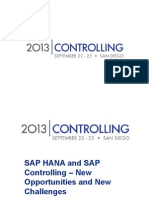 SAP HANA Controlling