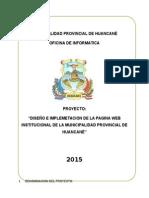 Proyecto Pagina Web Institucional de La Provincia de Huancane