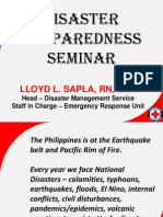 Disaster Reduction and Risk Management Seminar QC Red Cross 07042015