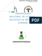 ORGANOFOSFORADOS - farmacología