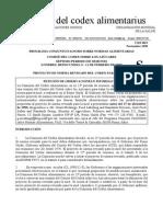 Comité Del Codex Sobre Los Azúcares.PROYECTO DE NORMA REVISADO DEL CODEX PARA LA MIEL