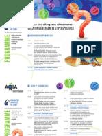 Prog Préliminaire AQIA2015 - Session sur les Allergènes alimentaires
