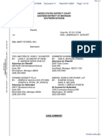 Roehm v. Wal-Mart Stores, Incorporated - Document No. 11