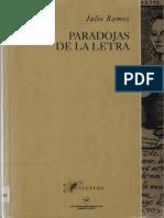 Ramos Julio. Paradojas de La Letra