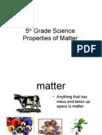 5th Grade Properties of Matter