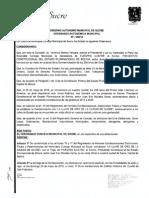 Ordenanza Autonomica Municipal Nº049/15