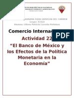 EL Banco de México y los efectos de la Política Monetaria en la Economía.docx