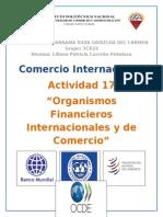 Organismos Financieros Internacionales y de Comercio