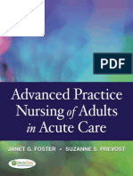 Advanced Practice Nursing of Adults in Acute Care - Foster, Janet G., Prevost, Suzanne S.