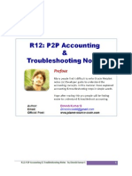 Oracle R12 P2P Accounting Troubleshooting Notes - by Dinesh Kumar S