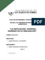 Procesos de Destilaciòn Enologìa