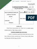 Selex Communications, Inc. v. Jajah, Inc. - Document No. 1