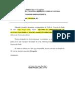 Modelo Carta de Subsanación Perfil de Tesis