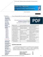 Calendario Quimica de Soluciones - Academia de Química Departamento de Formación Básica