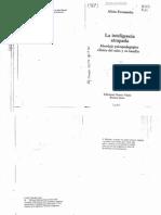 Fernandez. La Inteligencia Atrapada. Abordaje Psicopedagogico Clinico Del Niño y Su Familia. Introd, Cap IV ,V y VI