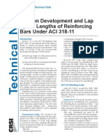CRSI Tension Development Lengths ACI 318-11