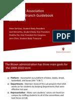 2009-2010 IUSA Organizational Structure