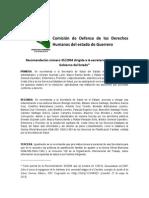 Recomendación número 35/2004 dirigida a la secretaría de gobierno del Estado