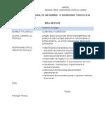 FISA de POST Asistent Manager