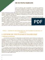 Origine Du Peuple Bamileke