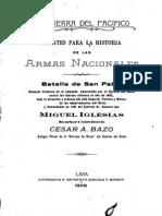 Apuntes para la historia Batalla de San Pablo